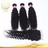 100%の閉鎖が付いている加工されていないバージンのブラジルの巻き毛の波の人間の毛髪を販売するBesting