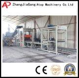 Bloco de cimento da maquinaria de construção que faz a máquina