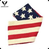 Шарф типа зимы флага звезды США акриловый связанный американский для детей