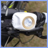 Accessories 순환 180lm Bright Gree Gp 1 LED 2 Mode Bike Flashlight White Black Shell 90 Degree Adjustable Bicycle Front Light