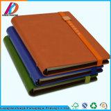 Luxuxleder-verklemmtes Ausgabe-Zapfen-Notizbuch mit elastisches Band-Schliessen