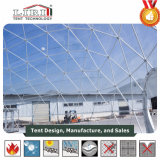 Tente extérieure d'événement de dôme géodésique de jardin de qualité avec le tissu clair de PVC à vendre