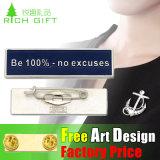 Kundenspezifische Form-preiswertes Namensmarken-Abzeichen mit Metallclip