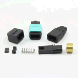 Round Ribbon Cable를 위한 MPO Fiber Optical Connector