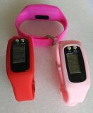 Het slanke Horloge van de Sport van het Silicone met de Slaap Mon van de Pedometer