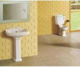 Articles sanitaires en céramique avec accessoires et piédestal