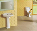 Colorear las mercancías sanitarias de cerámica con las guarniciones y el zócalo