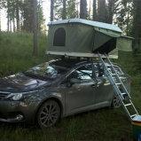 キャンバスアルミニウム車の屋根の上のテントの単一のテントを現れなさい