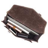 Низкая цена хорошего качества темно коричневых кожаных Crazy Horse Messenger Designer сумки