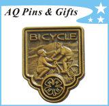 Divisa antigua del Pin de la solapa de la serie 4h del comerciante con el trébol (badge-138)