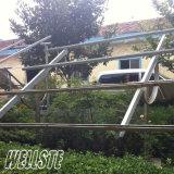 Parentesi di alluminio della struttura di montaggio di messa a terra e del tetto per il modulo solare