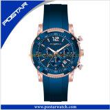 Het Horloge van de chronograaf met de Concurrerende Prijs van de Band van het Silicone