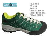 第52086緑色の女性の屋外のハイキングの靴の在庫