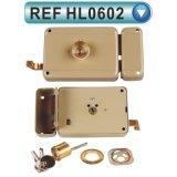 Bloqueo seguro del borde de la puerta de la seguridad de cobre amarillo del cilindro (HL0601)