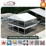 Tent van het Dek van twee Verdieping toont de Dubbele met de Muur van het Glas als Tentoonstelling Tent