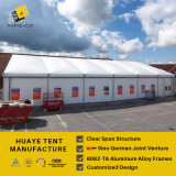 Barraca grande do armazém com os painéis de sanduíche para a feira profissional (HAF 30M)