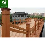 Frontière de sécurité composée en plastique en bois extérieure intense et de l'eau d'épreuve de coextrusion
