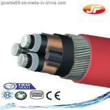 6/10 kilovolt de câble d'alimentation isolé par XLPE de cuivre de faisceau
