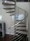 力のコーティングの錬鉄の螺線形階段柵