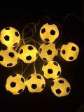 Het nieuwe LEIDENE Licht van het Koord met de Purpere Decoratie van de Bal, het Licht van Kerstmis