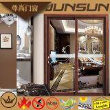 Cours vendeur d'usine de Foshan porte coulissante s'arrêtante d'aluminium en aluminium de produit
