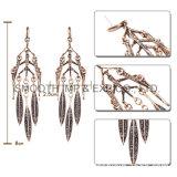 Листовой металл крупные алмазные Rhinestone серьги метелками украшения аксессуары подарок