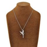 ロジウム白い金張りの吊り下げ式の天使の方法ネックレス