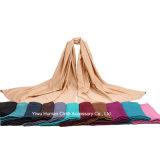Écharpe de satin de polyester de couleur pleine pour Madame