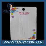 Jóias de moda impressas embalagens de papelão de tela de encosto (CMG-108)