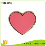 주문을 받아서 만들어진 색깔 분홍색 심혼 접어젖힌 옷깃 Pin 기장