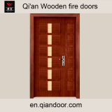 Sapeleのベニヤの合成の木の耐火性のドア