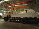 Sinotruk Cdw 4X2のディーゼル機関12販売のためのトンによって取付けられるトラッククレーン