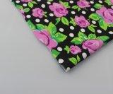 Buena calidad de estampados florales de tejido de nylon spandex