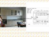 Guanjia Küche-MDF lamellierte Küche-Insel-Schränke Kc-070