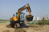 China 0,23cbm cuchara 7 tonelada de la excavadora de rueda con alta calidad HT75W