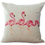 Het in het groot Digitale Kussen/het Hoofdkussen van de Bank van de Druk met de Dekking van het Kussen van de Flamingo