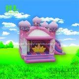Frohes kleines federnd Schloss-aufblasbares kombiniertes für Kinder
