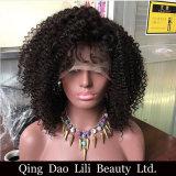 Peluca llena sin procesar del cordón del pelo humano de la Virgen de la venta al por mayor el 100% de la fábrica de Lilibeauty