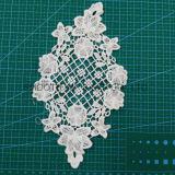 Tessile accessoria del collare del merletto del ricamo del tessuto di cotone dell'indumento del Crochet di modo