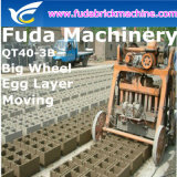 Piccola macchina concreta vuota manuale del mattone che pavimenta la macchina del blocco