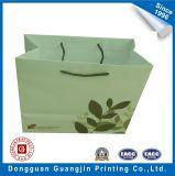Bolsa de compras de papel personalizado com sacolas com ilhóes