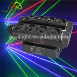 Luz principal movente colorida do estágio do laser da aranha das cabeças 1720MW do RGB oito da exportação direta da fábrica