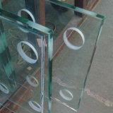 Ultra-épais, transparent de 19mm verre de sécurité trempé de balle surdimensionnée