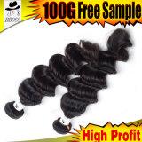 100%未加工Ombreのカラーアフリカの毛のためのジャンボ毛のブレード