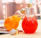 Lampe de feu de boire de jus de plastique en forme de bouteille PET avec bouchon à vis