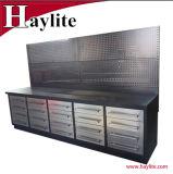 El uso del garaje de acero inoxidable el metal del banco de trabajo armarios con cajones