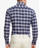 Camice casuali di svago del Lungo-Manicotto della flanella controllate sorgente degli uomini superiori