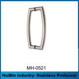 Maneta de cristal recta inoxidable del tirón de los muebles de la puerta de la bisagra H del acero del satén polaco