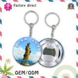 SGS Factory 50mm Custom Print Logo Tinplate Keychain Bottle Opener