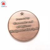 旧式な銅の金属の二重像の硬貨値